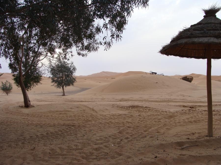 Posledný pohľad na duny Erg Chebbi