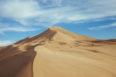 Beautiful sand dunes in dunhuang china