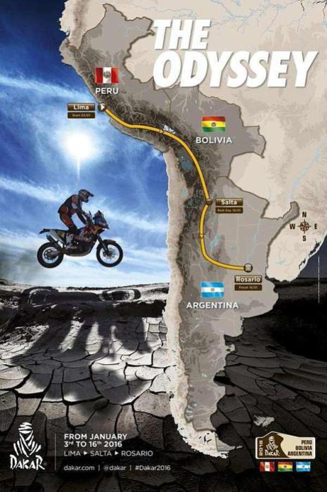 Trasy Dakaru 2016